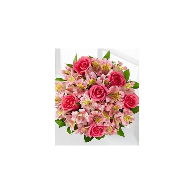 Bouquet Rosas Tallo largo 70 cm .