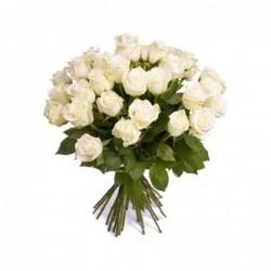 Ramo 24 Rosas blancas Premium