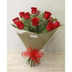 Ramo 12 Rosas Rojas Extra