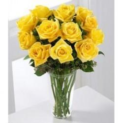 Bouquet 12 Rosas Amarillas...